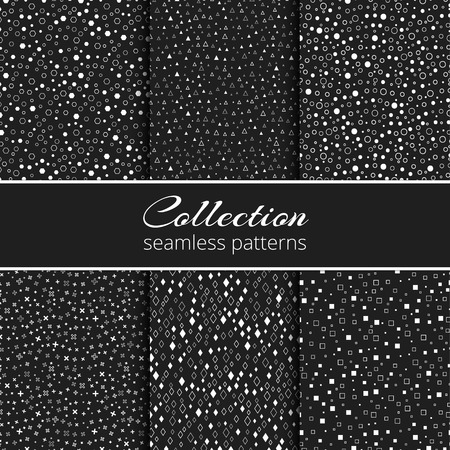 Set of backgrounds with a geometric pattern for decorating the packing of luxury goods, cosmetics, chocolate Illustration