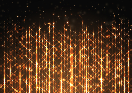 Background with a golden sparkling border shining on a black backdrop.