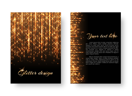 Glitter background with new year light. Lens flare vector on a black backdrop. Illustration