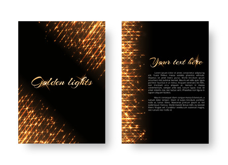 Bling background with christmas lights. Shine texture on a black backdrop.