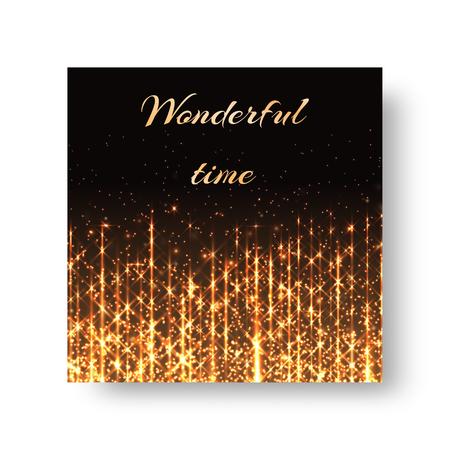 스파클링 빛을 배경으로 크리스마스 인사말 디자인입니다. 일러스트