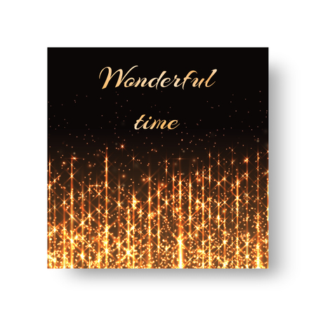 Christmas greeting design with sparkling light background.