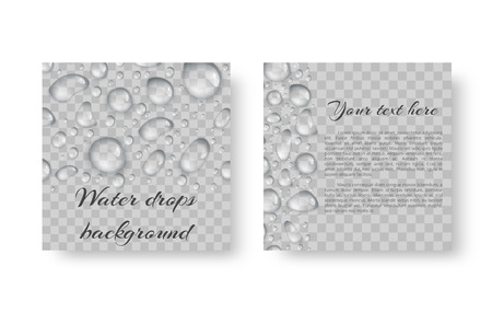 The invitation template is in an ecological style with transparent drops.