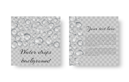 Cover leaflet for an environmental event with shiny drops of water. Illustration