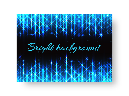 festive invitation template for a christmas party with neon lights of blue light on a black