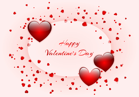 Festive background design for greeting cards for Valentines Day, Mothers Day or Birthday.