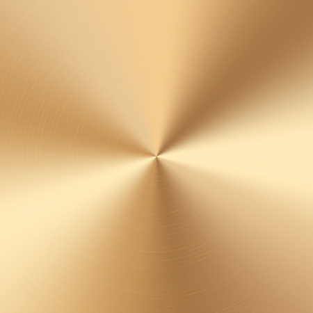 Colorful golden cone gradient. Vector polished plate with metal texture. Çizim
