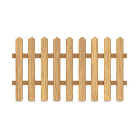 vector de madera de cerca sobre fondo blanco para el diseño . las tablas se encuentran con clavos de metal