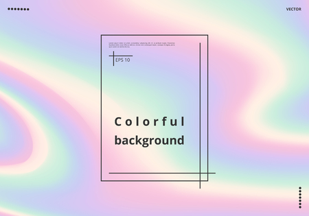 Colorful multicolor background with holographic effect