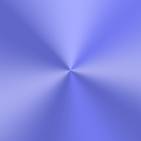 Blue conic gradient with the effect of a metal plate. Vector illustration