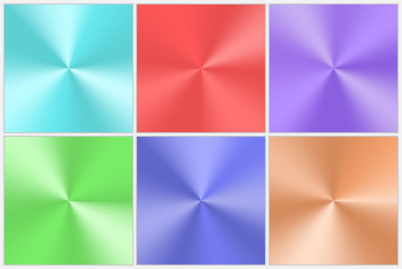 Collection of conical gradients with a metallic effect Çizim