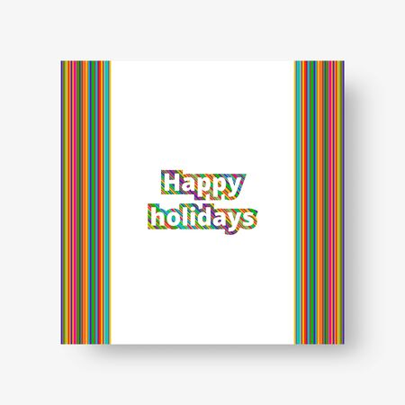 Multicolor square geometric background with colorful stripes for decoration cards and invitations. Vector illustration