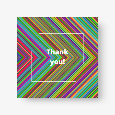 Multicolor square background with stripes of bright colors for decoration of cards, greetings and invitations. Vector illustration   イラスト・ベクター素材