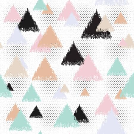Geometric multi-colored background with triangles. Decorative vector illustration.
