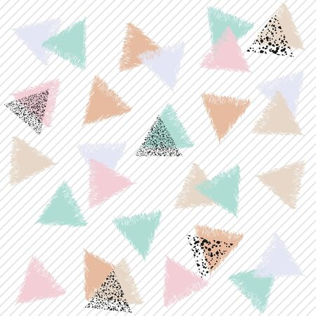 Seamless colorful pattern with triangles. Decorative vector illustration. 矢量图像