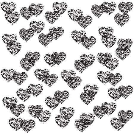 Monochrome backdrop with openwork hearts for decoration
