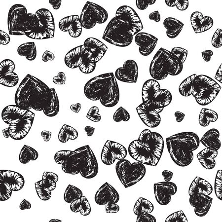 Seamless pattern of hearts for decoration 矢量图像