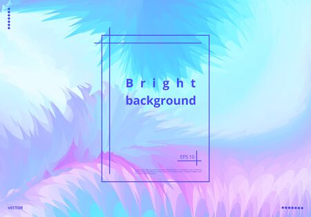 Minimalistic holographic background for greeting cards, business cards, posters. Vector illustration