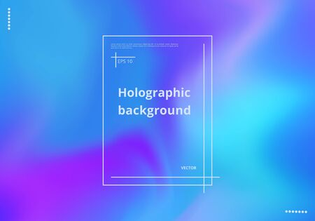 Colorful abstract holographic background for decorating cards, business cards, posters. Vector illustration 矢量图像
