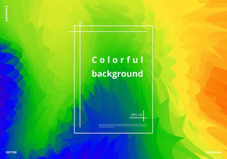 Bright holographic background with color splashes for design of posters, cards and invitations. Vector illustration 矢量图像