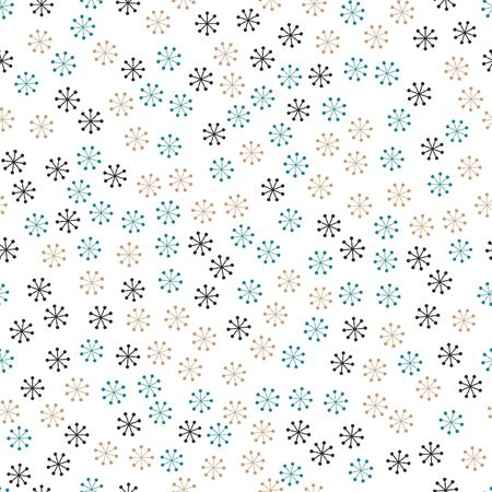 Seamless background with snowflakes. Christmas. New Year. Vector