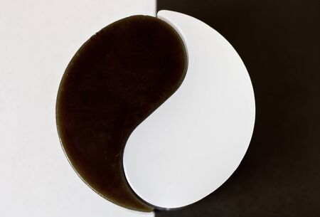 dualism: Yin-Yang symbol Stock Photo