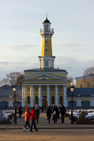 maypole: Architectural monument - old maypole on Susanin`s square in Kostroma, Russia