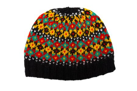 russian pattern: Handmade multicoloured cap with old russian pattern