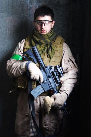 Portrait of soldier. photo