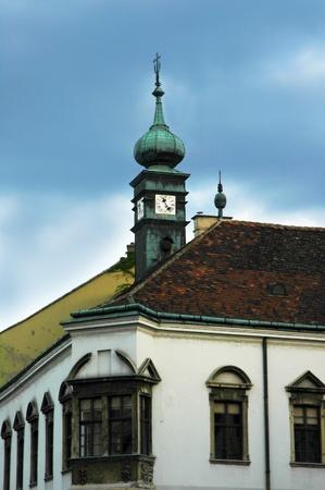 chimney corner: Detalle de la arquitectura en Budapest.