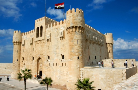 alexandria: View of fortress in Alexandria in Egypt