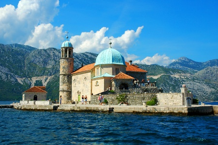 Fishing church on island in Montenegro  photo