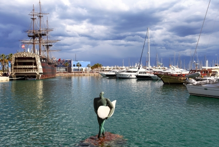 Harbour of Alicante in Spain  photo