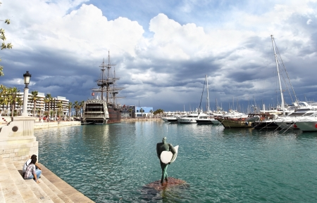 Harbor of Alicante in Spain.