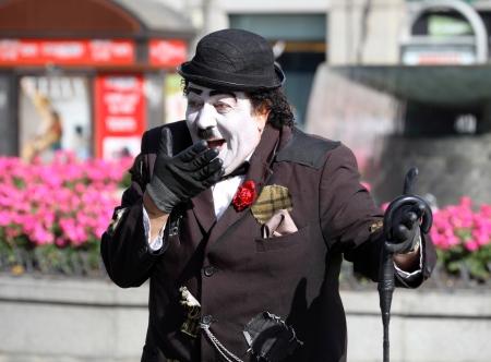 Charlie Chaplin in the street