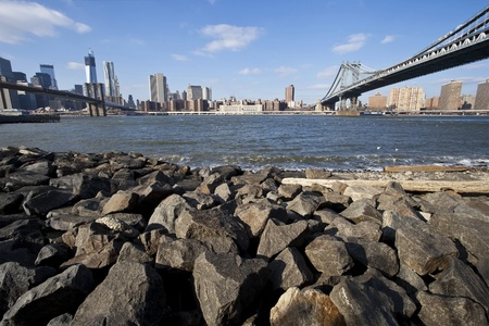 View of the Midtown Manhattan from Brooklyn side
