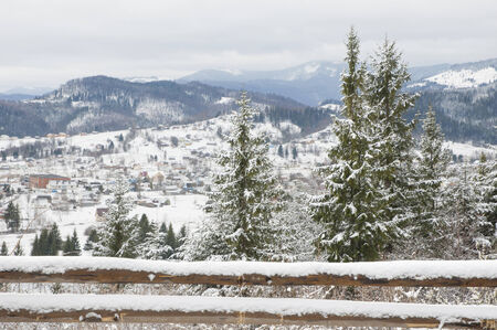 Winter in Carpathian Mountains  photo