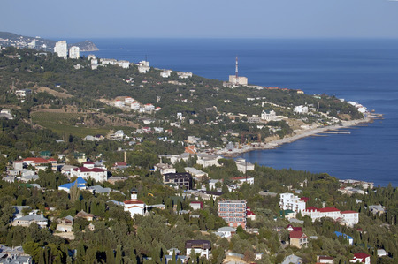 bird s eye: Bird s Eye View of Black sea coastline in Crimea
