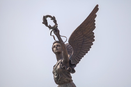 Detail of monument to goddess of victory Nike