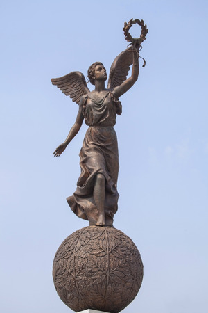 kharkov: Monument to the Goddess of victory Nike on sphere