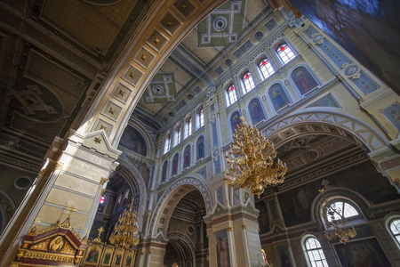 Interior of Assumption Cathedral in Kharkov