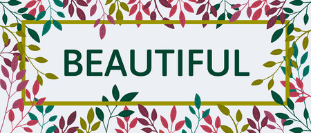 signboard: Vector colorful autumn quote in square frame. Autumn banner, poster. Slogan. Signboard. Beautiful. T-shirt design . Illustration
