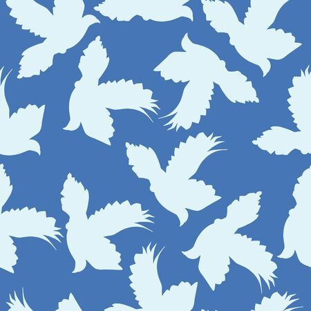 Seamless Flying Doves Of Peace Pattern, pigeons