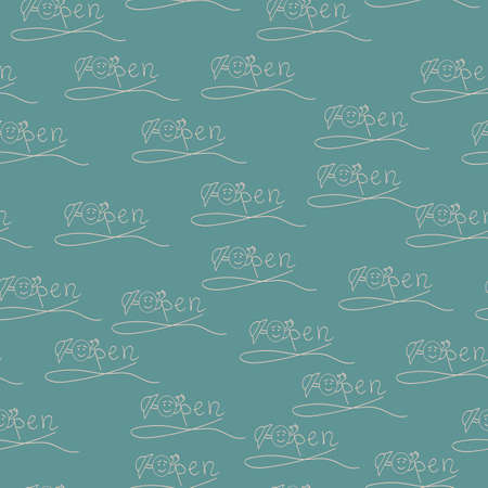 endless pattern on a blue background inscription openly in the style of a skit Ilustracja