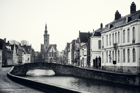 The medieval fairy tale town of Bruges photo