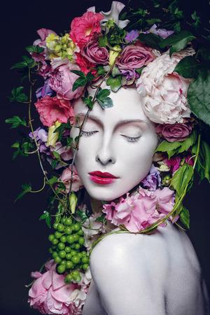 Beautiful flower queen 版權商用圖片