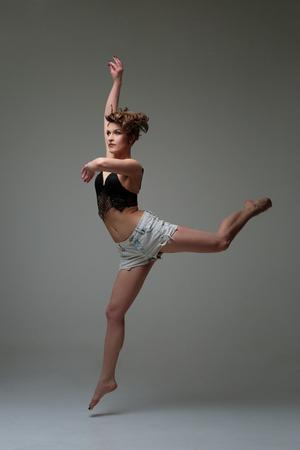 Beautiful woman dancer Banque d'images