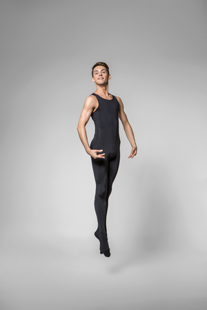 handsome ballet artist Stock Photo