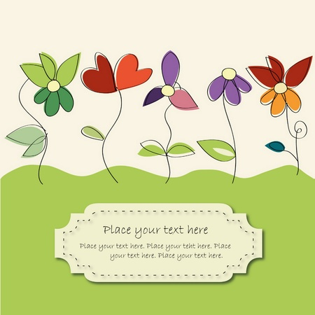 leaf line: flower card