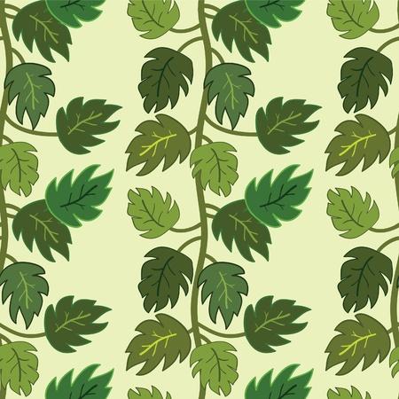 liana: Seamless green liana pattern